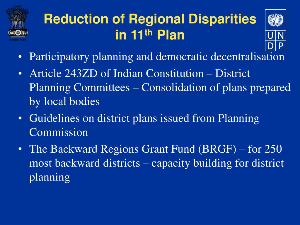 Participatory planning and democratic decentralisation