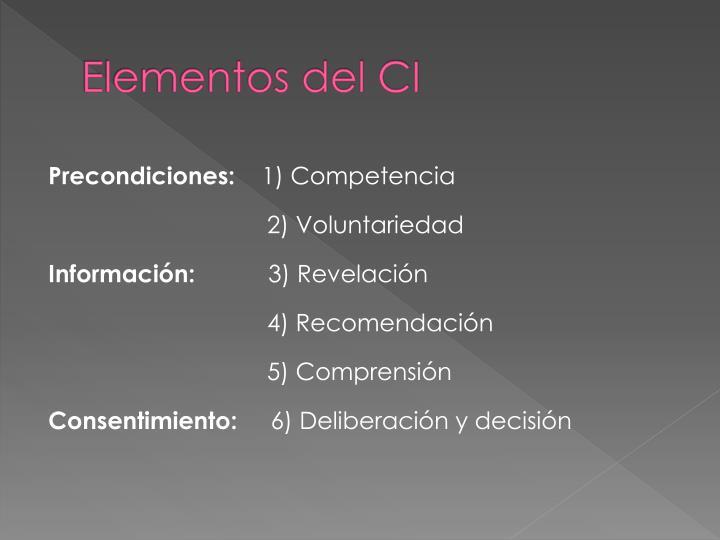 Elementos del CI