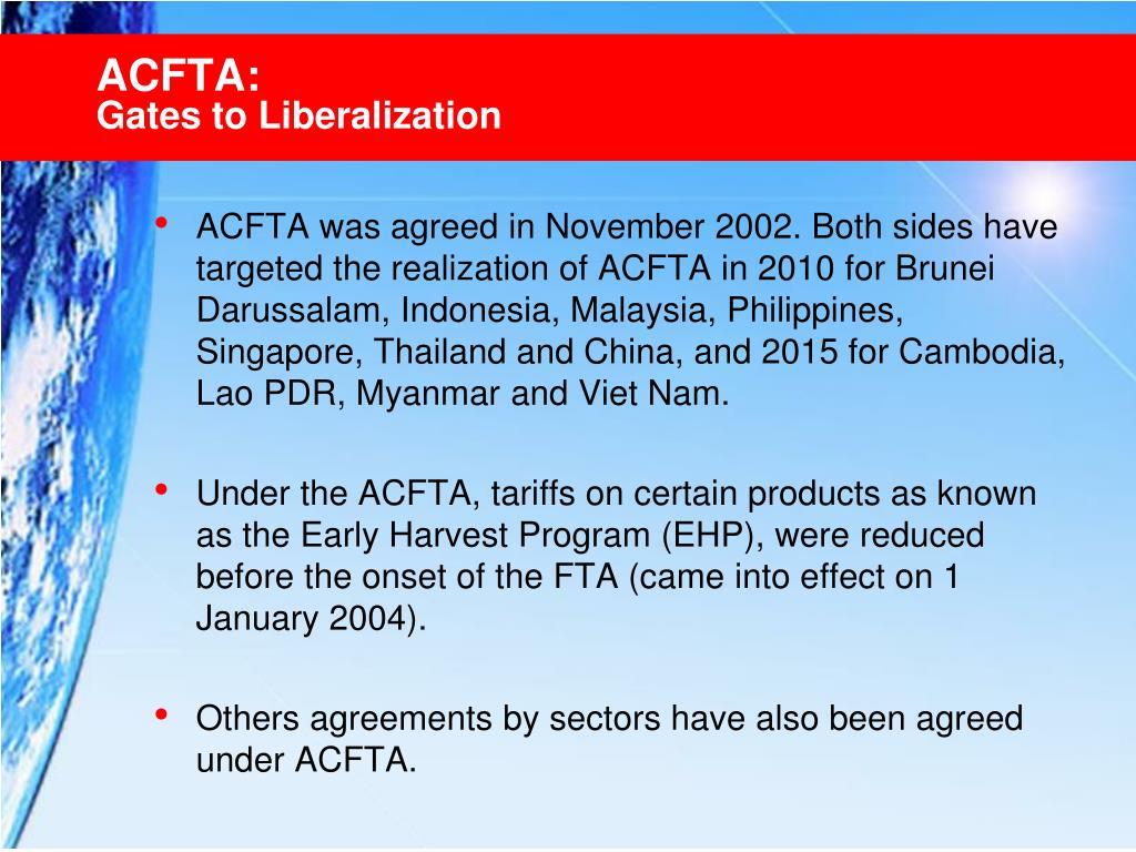 ACFTA: