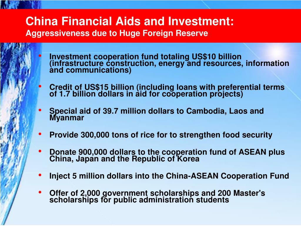 China Financial Aids and Investment: