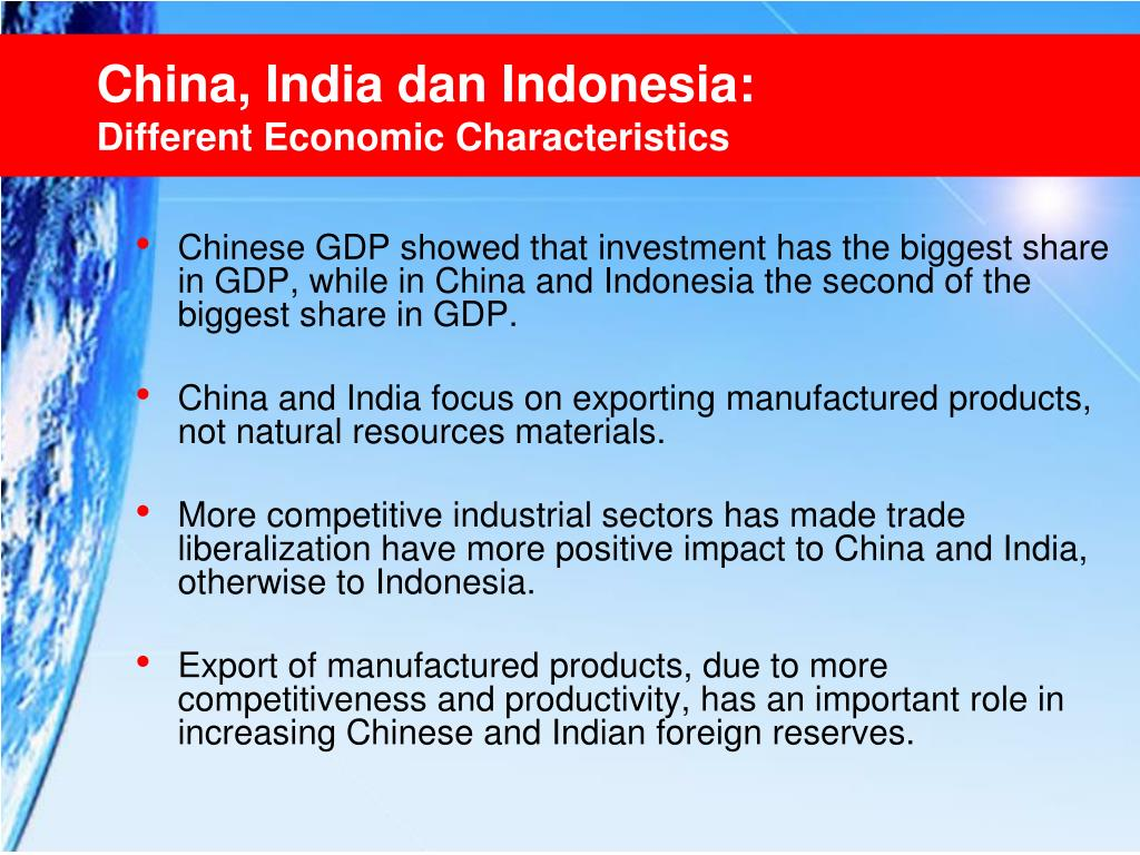 China, India dan Indonesia: