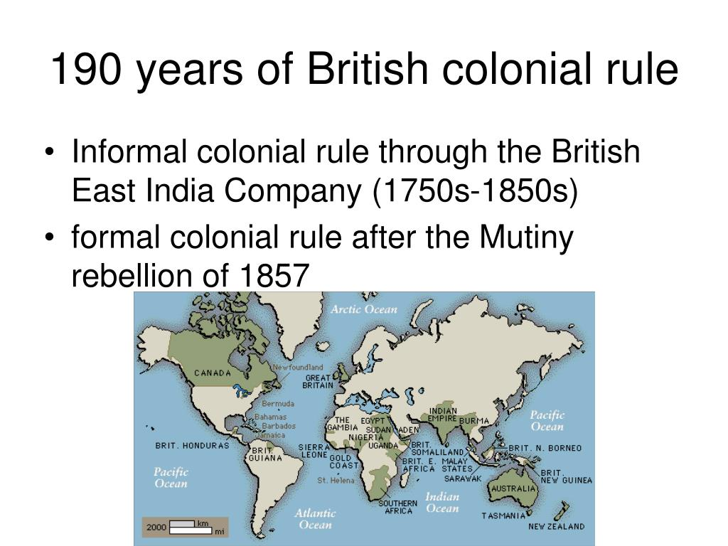 190 years of British colonial rule
