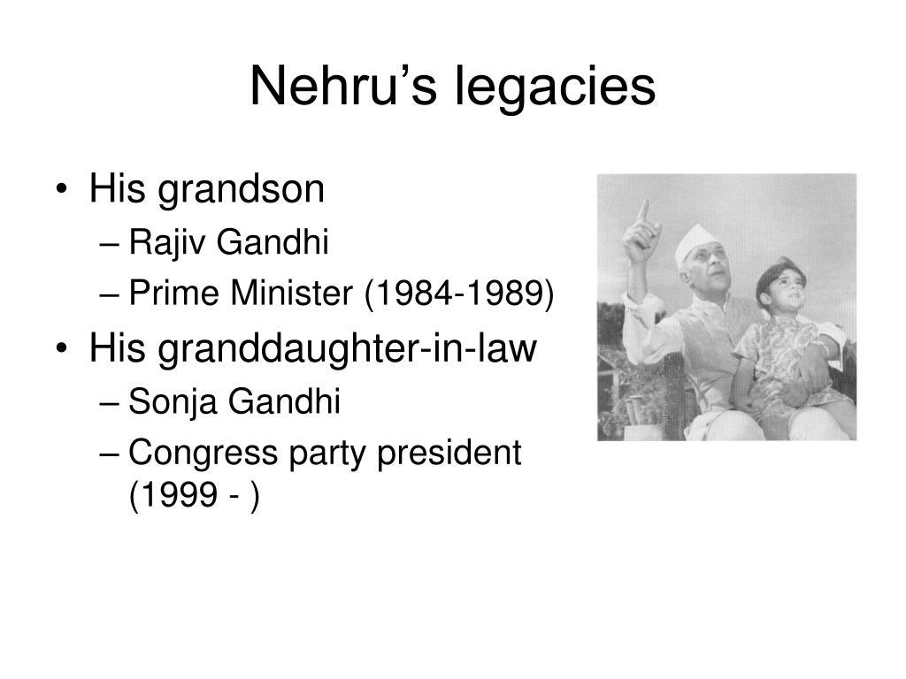 Nehru's legacies