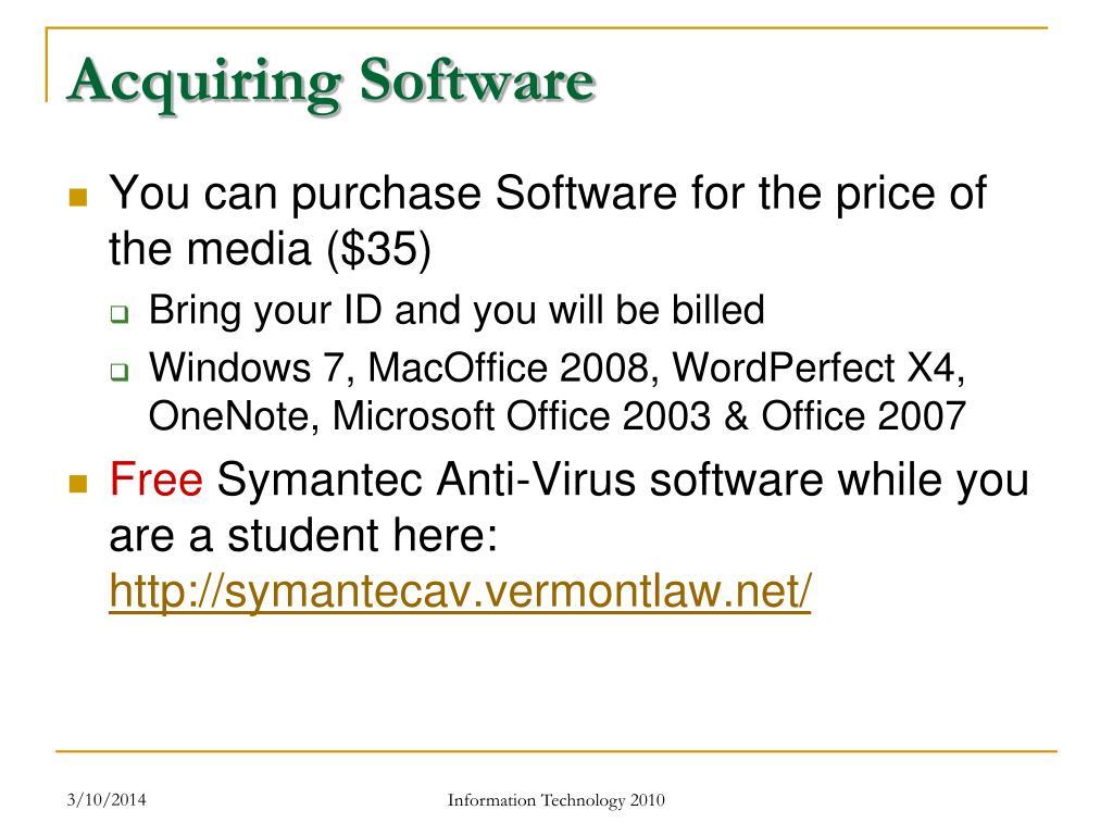 Acquiring Software