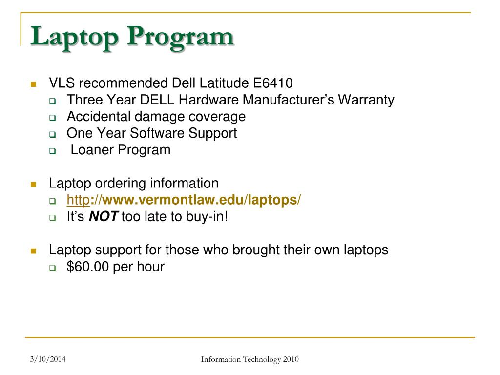 Laptop Program