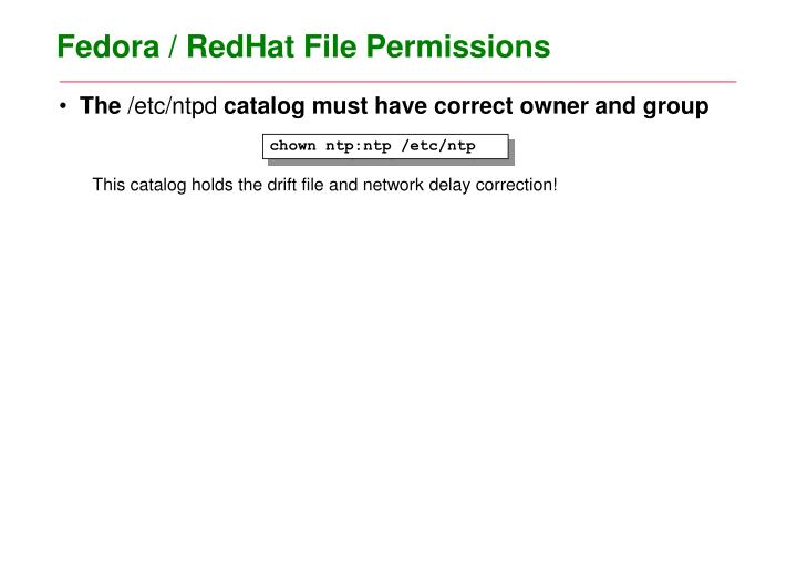 Fedora / RedHat File Permissions