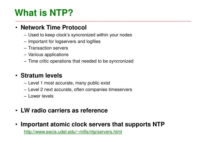 What is NTP?