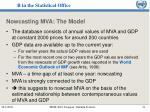 nowcasting mva the model