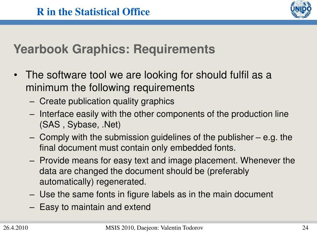 Yearbook Graphics: Requirements