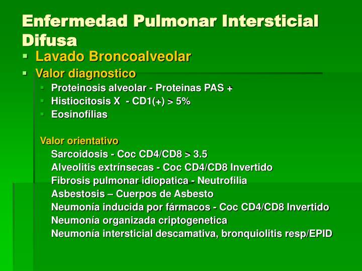 Enfermedad Pulmonar Intersticial Difusa
