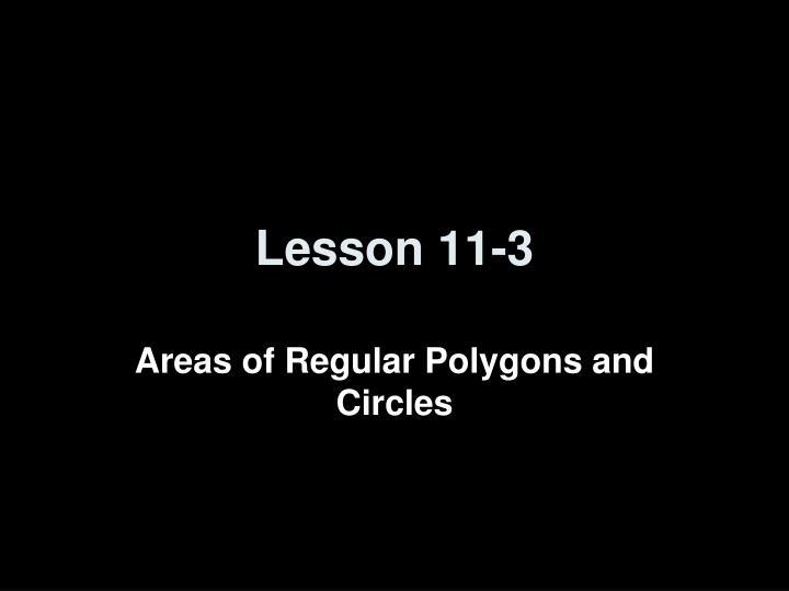 Lesson 11-3