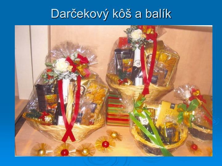 Darčekový kôš a balík