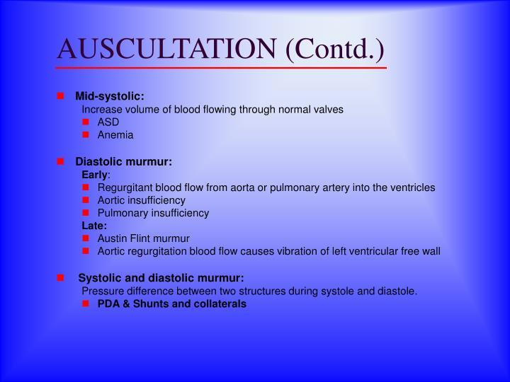AUSCULTATION (Contd.)