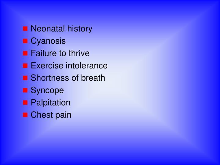 Neonatal history