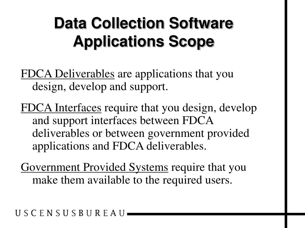 Data Collection Software Applications Scope