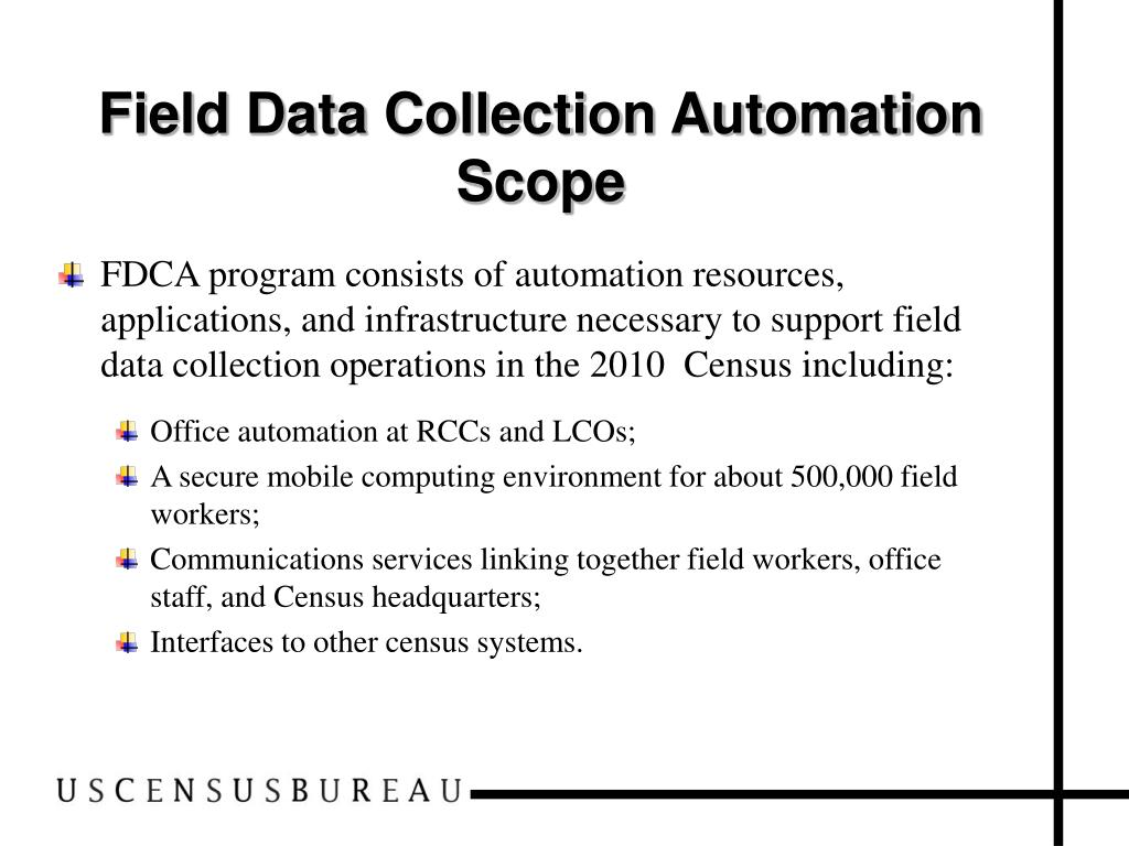 Field Data Collection Automation Scope