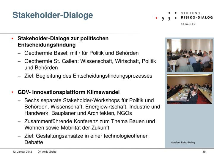Stakeholder-Dialoge