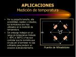 aplicaciones medici n de temperatura