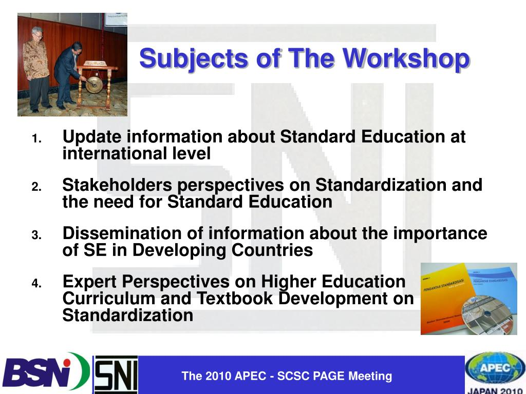 Update information about Standard Education at international level