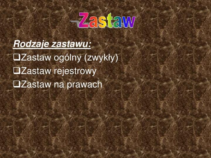 Zastaw