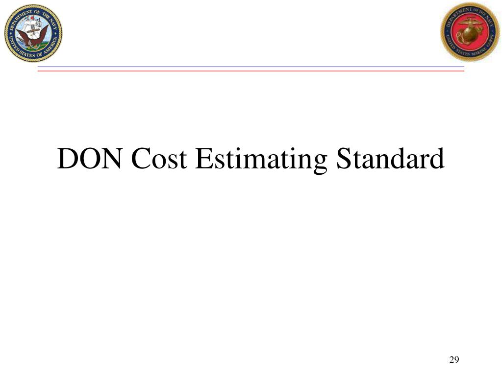 DON Cost Estimating Standard