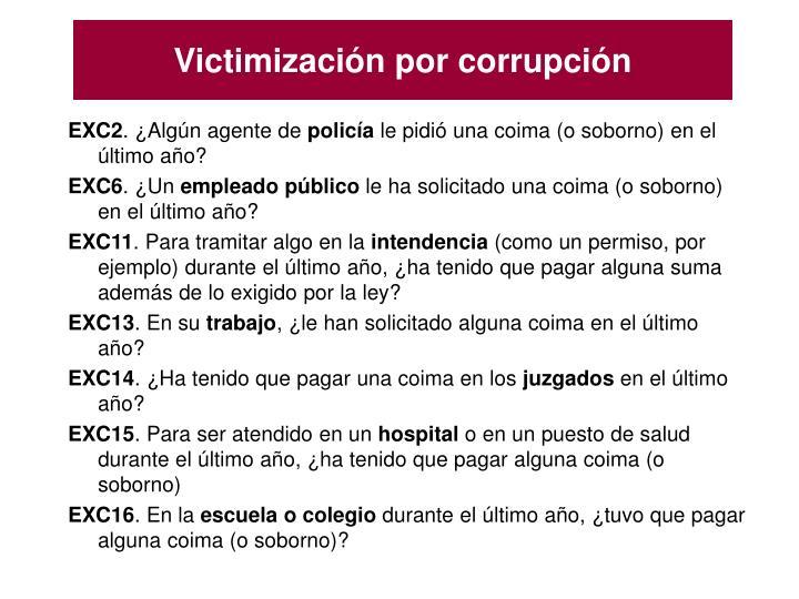 Victimización por corrupción