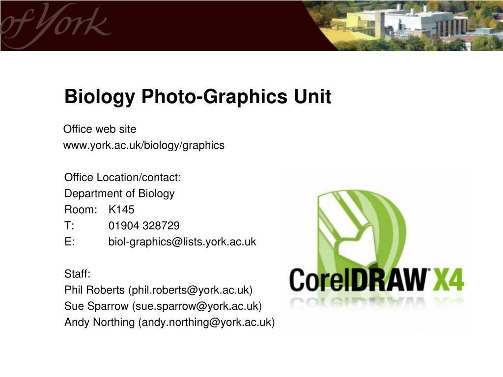 Biology Photo-Graphics Unit