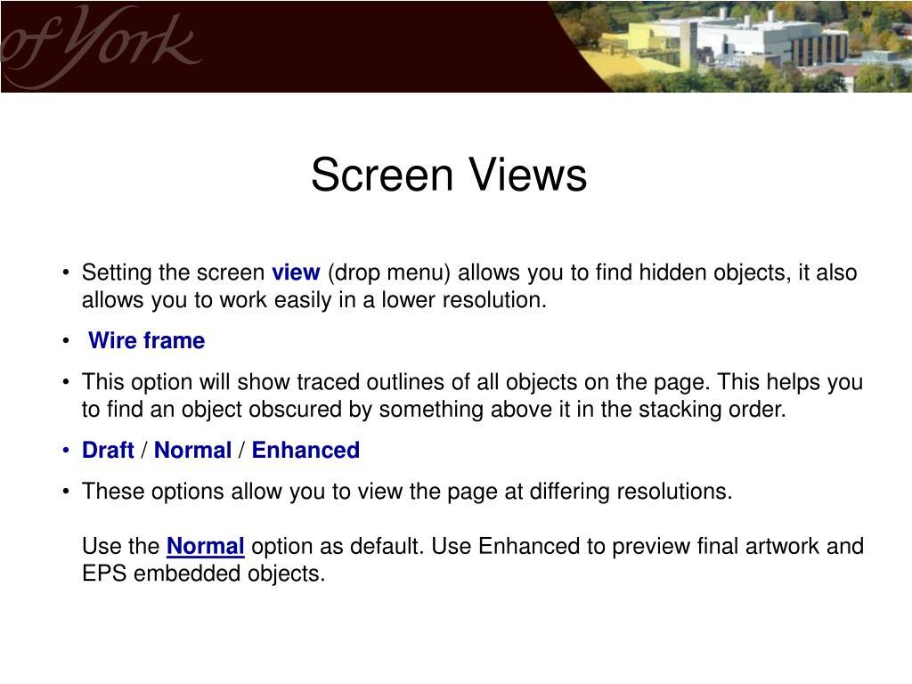 Screen Views