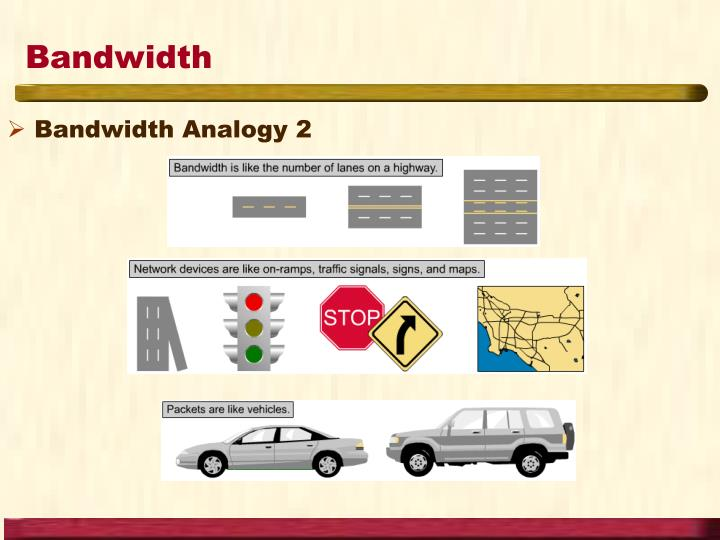 Bandwidth Analogy 2