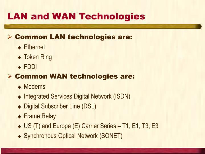 LAN and WAN Technologies