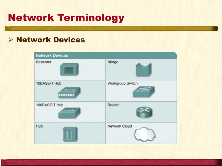 Network Terminology