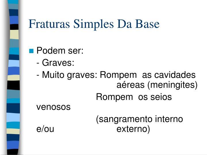 Fraturas Simples Da Base