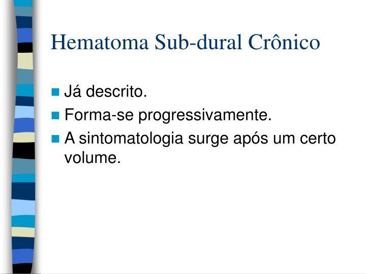 Hematoma Sub-dural Crônico