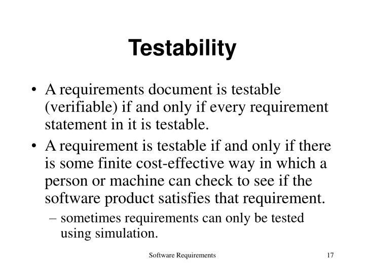 Testability