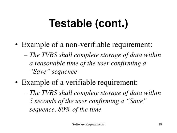 Testable (cont.)