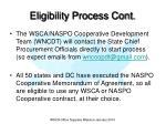 eligibility process cont