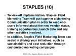 staples 10