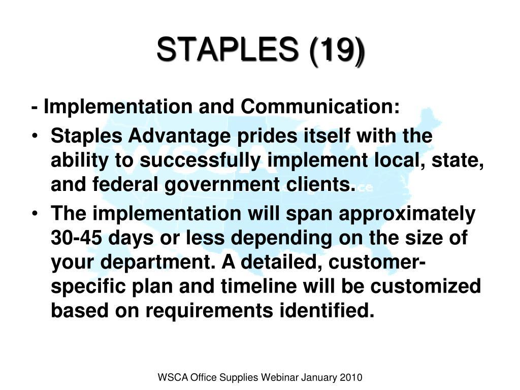 STAPLES (19)