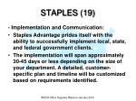 staples 19