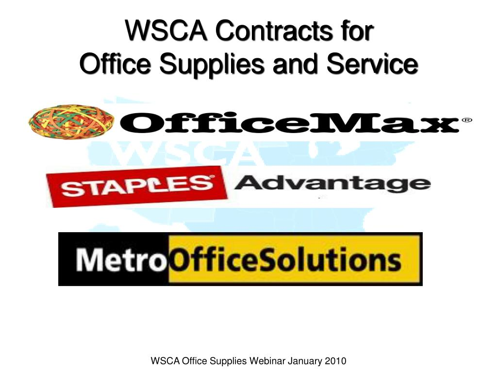 WSCA Contracts for