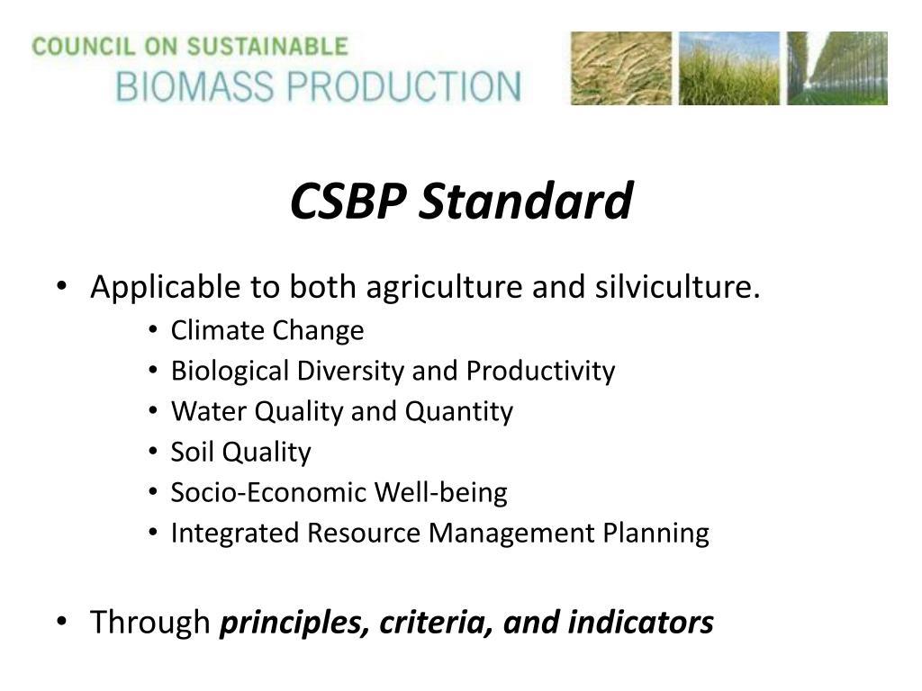 CSBP Standard
