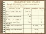 presupuesto de enlace ejemplo del modelo de presupuesto de un enlace de se alizaci n directa cdma