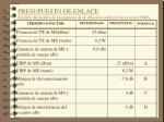 presupuesto de enlace ejemplo del modelo de presupuesto de un enlace de se alizaci n inversa cdma