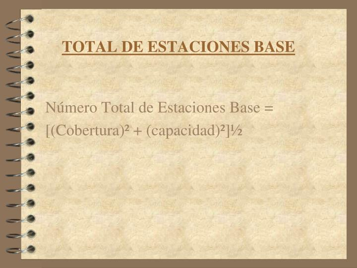 TOTAL DE ESTACIONES BASE