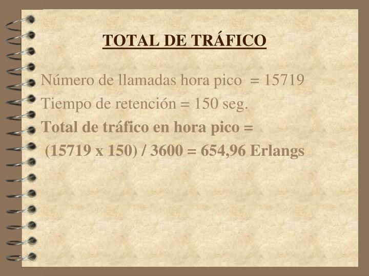 TOTAL DE TRÁFICO
