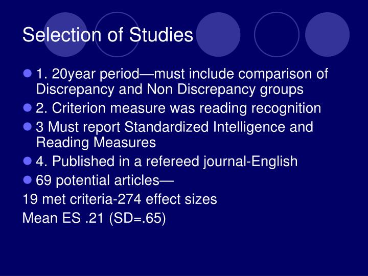 Selection of Studies