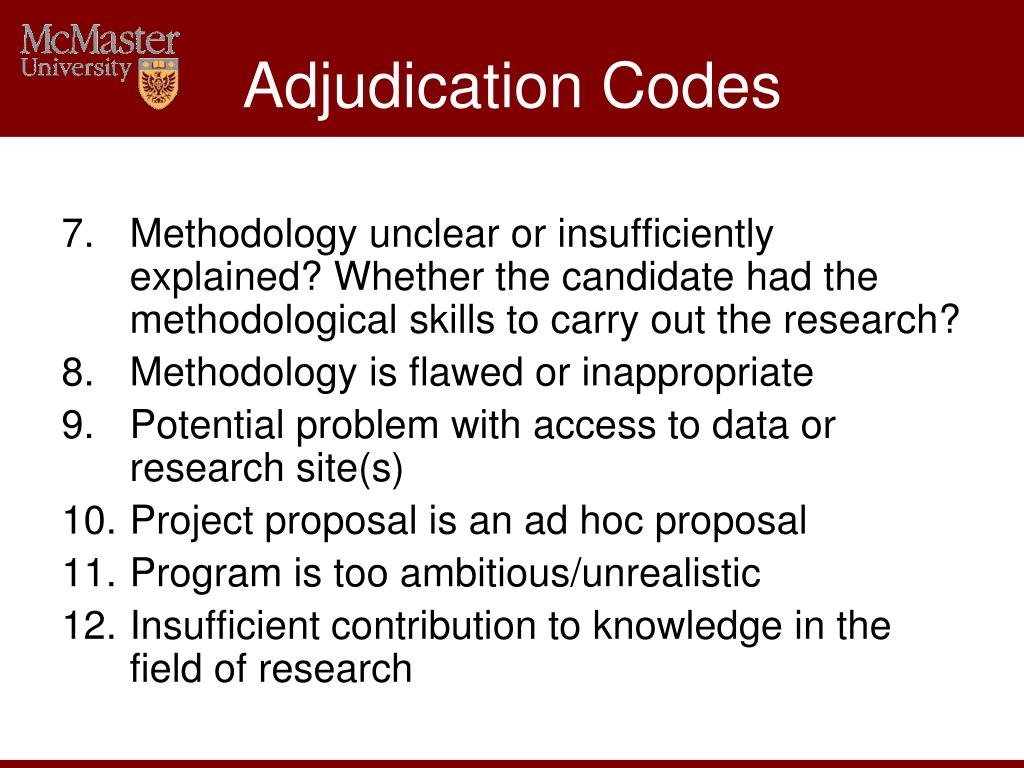 Adjudication Codes