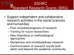 sshrc standard research grants srg