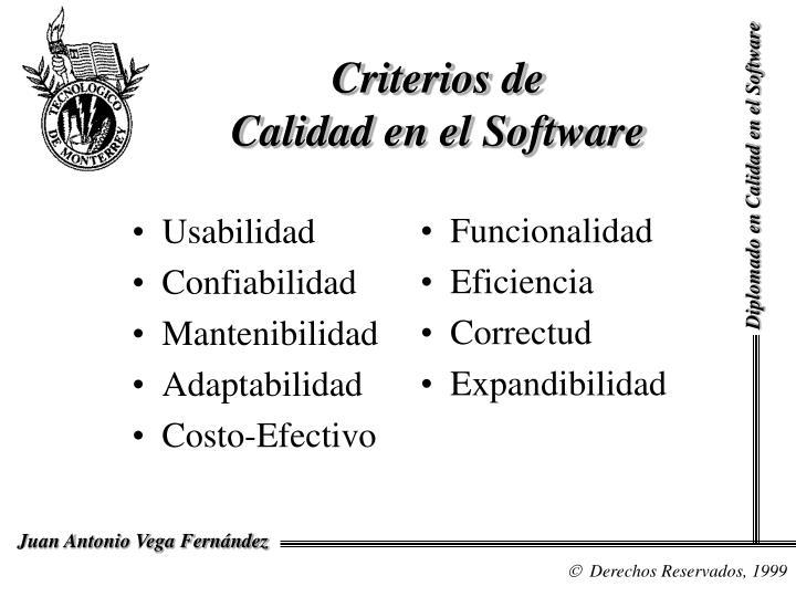 Criterios de