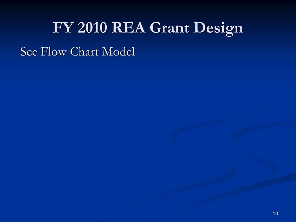 FY 2010 REA Grant Design